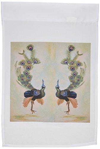 3dRose FL 46928_ 1verspiegelt Pfauen/Animal/Realismus/Pfau/Peacock/Federn/Balz/Gefieder Garten Flagge, 12von 18