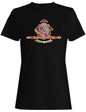 Surf retra del vintage de la persona que practica surf desde 1975 camiseta de las mujeres f823f