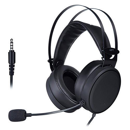 Computer Kopfhörer, elegiant Xbox PS4Gaming Headset mit Noise Canceling Mikrofon PC-Gaming Kopfhörer, weich/leicht Design Over-Ear Gaming Headset für Nintendo Schalter PS4Xbox PC Laptop mac-Black - Mac Creed Assassins 1