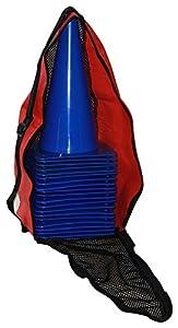 agility sport pour chiens - lot de 20 plots de délimitation 30 cm, couleur: bleu, contient également: un sac pratique - 20x MK30b
