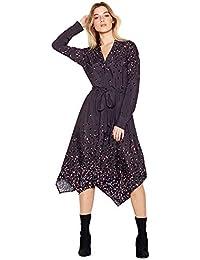 638002f545 Debenhams Nine by Savannah Miller Womens Grey Animal Print High Low Utility  Dress