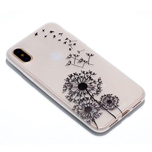 iPhone 8 Custodia, Copertura per iPhone 8, Case Cover protettiva antiurto per silicone per iPhone 8 , Soft TPU Bumper-Clear (Luce di notte-TPU) - Cacciatore di sogni Set 7