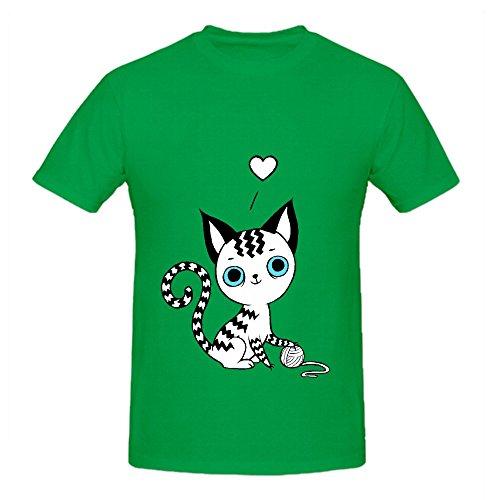 kitten-baby-men-o-neck-diy-t-shirts-green