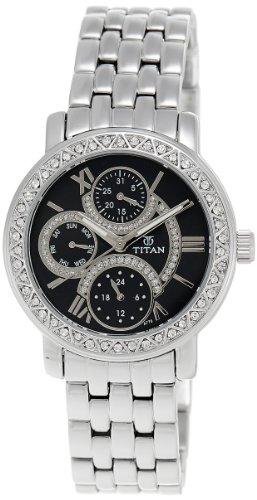 Titan Purple Analog Black Dial Women's Watch - NE9743SM02J