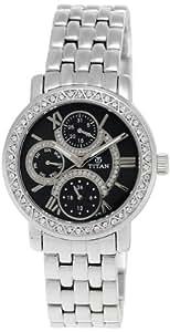 Titan Purple Analog Black Dial Women's Watch -NK9743SM02