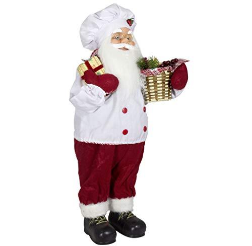 Christmas Paradise Weihnachtsmann Santa Nikolaus als Koch mit schönem Gesicht und Vielen Details – Größe ca.60cm