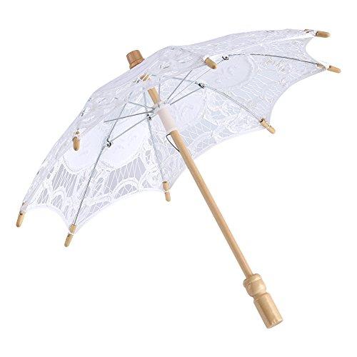 Spitze Regenschirm Vintage Hochzeit Spitze Stickerei Reine Baumwolle Dame Braut Hochzeit...