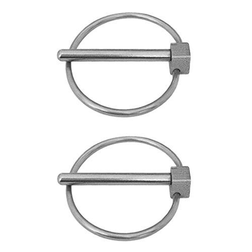 sgerste 24mm Sicherheit Lynch Pins Sicherungsstift Clip für Anhänger FARM Traktor Auto Truck ATV achsnagel 2-pin Clip