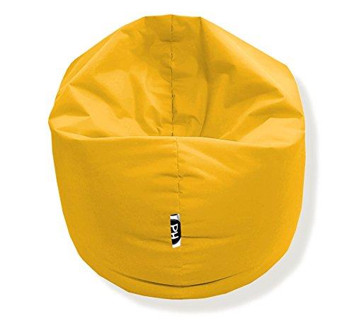 Sitzsack 100cm Durchmesser 2 in 1 | Gelb - 300 Liter in 25 Farben und 3 versch. Größen