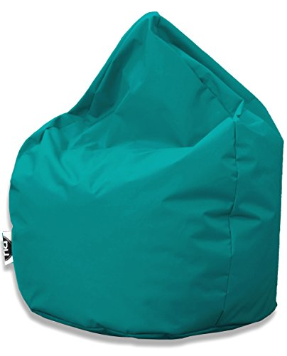 Sitzsack Tropfenform für In & Outdoor | XXL 420 Liter - Türkis - in 25 versch. Farben und 3 Größen