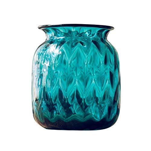 nvase Blaue Glasvase Moderne Minimalistische Tischdekoration Glasvase Dekoration Ornamente ()