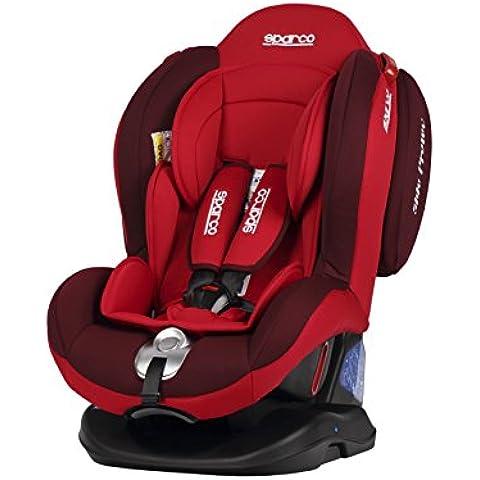 Sparco SPCF2000KRS Silla Infantil, Grupo 0+1+2, Color Rojo