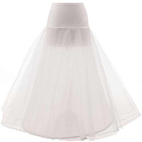 Ysmo Women's A-Line Floor Length Wedding Dress Underskirt for sale  Delivered anywhere in UK