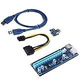 LeHang PCI-E Express 1x auf 16x GPU Extender Card Adapter BTC Kabel USB 3.0
