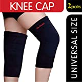#4: Dr Ortho Knee Cap (2 Pairs, Black, Universal Size) - Knee Cap for Men & Women Knee Support, Gym, Sports, Basketball, Cycling, Exercise, Workout, Injury, Jogging, Running
