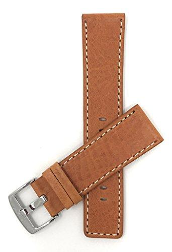 Leder Uhrenarmband 28mm, Hellbrun, auch verfügbar in schwarz, braun
