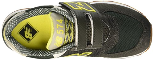 New Balance 483630-41, Chaussures Lacées Mixte Enfant Vert (Green Yellow)