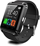 #8: CASVO Intex Aqua Star 4G Compatible Smart Android U8 Bracelet Watch and Activity Wristband, Wireless Bluetooth Connectivity Pedometer, Black,
