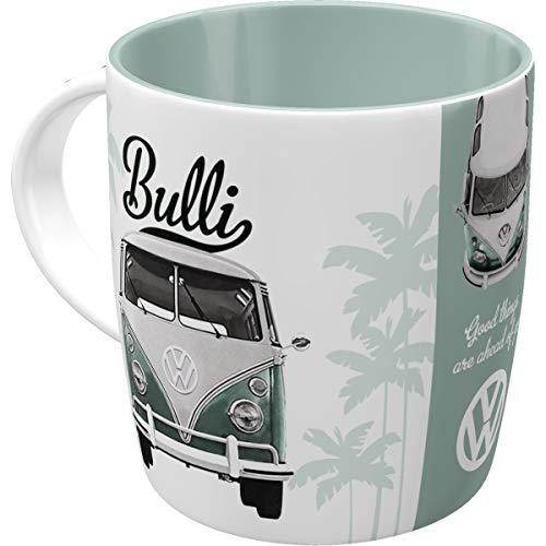 Retro Kaffee-Becher Volkswagen - VW Bulli Good Things are aheay of you, Große Lizenz-Tasse mit tollem T1 Motiv, Geschenk-Idee für Vintage-Liebhaber, 330 ml ()