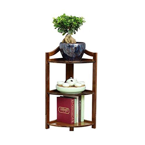 CSQ Coin Plante Coin, Étagère Bambou Poli Bambou Naturel Grain Salon Chambre Bureau Plantes En Pot Étagère à fleurs (taille : 43 * 66cm)