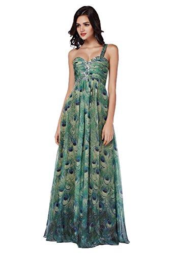 Gorgeous Bride Elegant Lang Traegerlos Empire Chiffon Abendkleider Festkleid Ballkleid Mehrfarbig Y