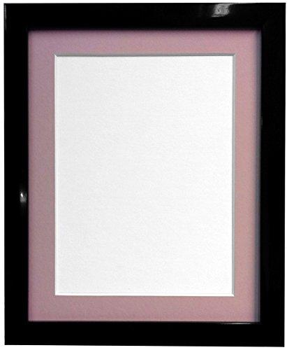 Frames By Post Schwarz Foto Bild Poster Rahmen mit rosa Halterung, plastik, 20mm Frame, 6