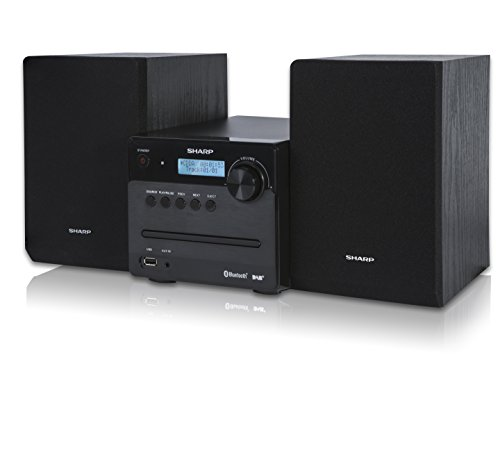 Sharp XL-B515D(BK) 30W Micro Hi-Fi System with DAB+ FM Radio, Bluetooth, CD, USB MP3 Playback/Charging & Remote Control - Black