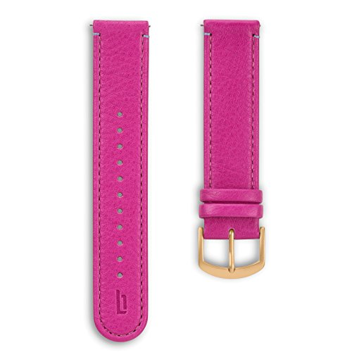 Lilienthal Berlin - Made in Germany – Wechselarmband, vegetabil gegerbtes Leder L1 (Farbe: purple /