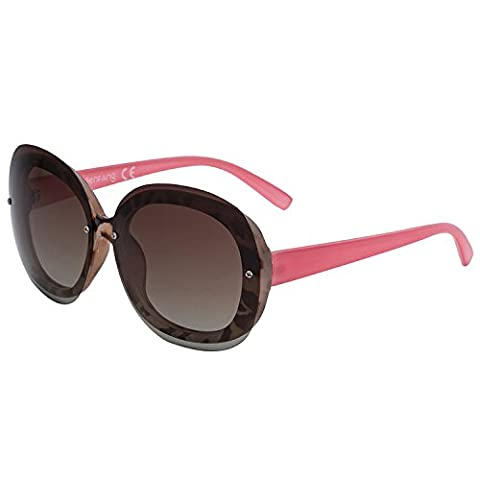 VIVIENFANG Women's Square Frame Oversized Polarized Sunglasses Gradient Lens P2109B Tortoise