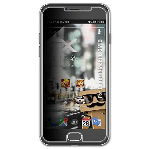 atFolix Blickschutzfilter kompatibel mit General-Mobile GM 6 Blickschutzfolie, 4-Wege Sichtschutz FX Schutzfolie
