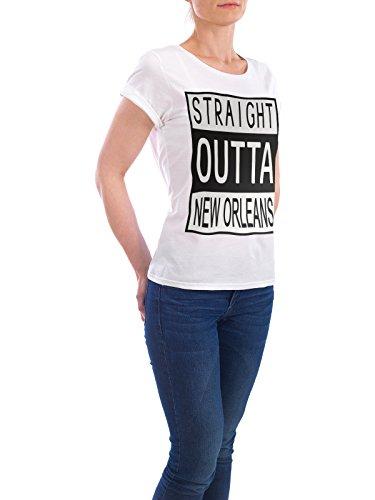 """Design T-Shirt Frauen Earth Positive """"New Orleans"""" - stylisches Shirt Typografie Städte Reise von David Springmeyer Weiß"""