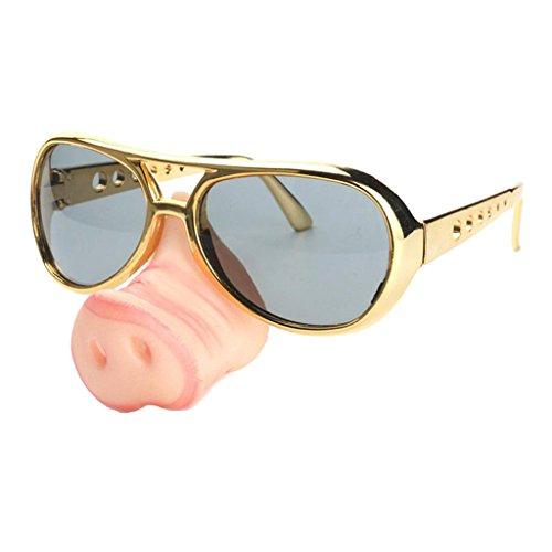 (Homyl Brille mit Schwein Nase Lustig Scherzartikel Spaßbrille Party Gläser Kostßm Zubehör Funbrille)