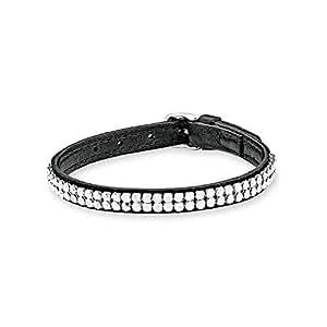 s oliver damen armband lederarmband swarovski elements. Black Bedroom Furniture Sets. Home Design Ideas