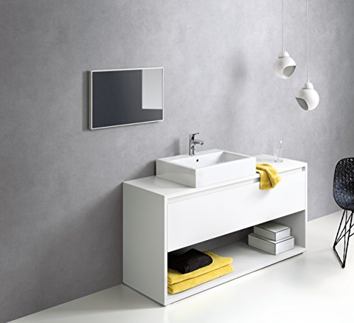Hansgrohe – Einhebel-Waschtischarmatur, mit Zugstangen-Ablaufgarnitur, CoolStart, Chrom, Serie Focus 100 - 4
