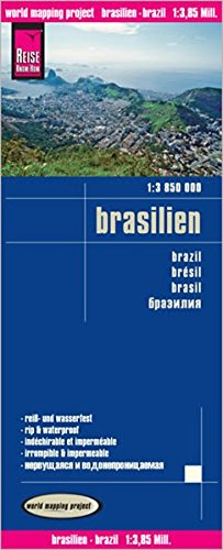 Reise Know-How Landkarte Brasilien (1:3.850.000): world mapping project