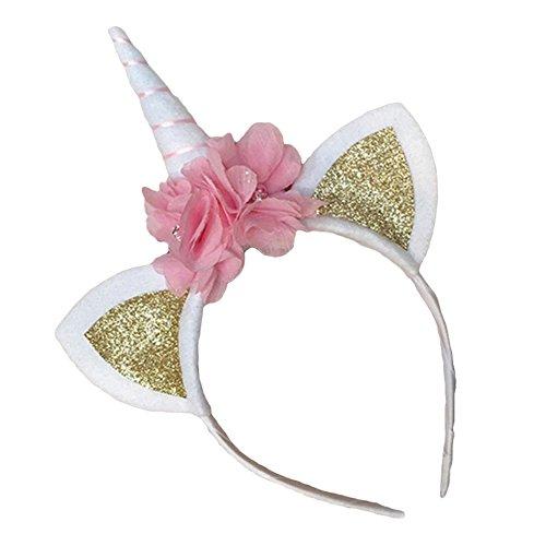 Gemini Mall® Mädchen Einhorn Horn Head Party Kids Haarband Stirnband Fancy Kleid Party Deko Blume mit Kopfbedeckungen