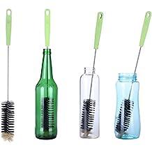 Cepillo de Botellas,Cepillo de Limpieza con Largo Mango Ideal Para Limpiar Botellas de cerveza