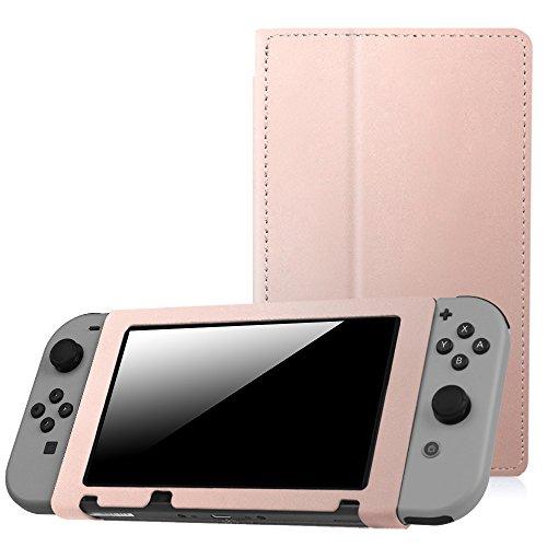Fintie Nintendo Schalter Folio Fall Rose Gold