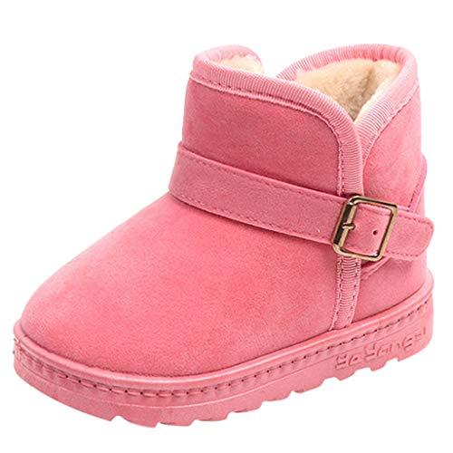Kinder Baby Mädchen Schneeschuhe Warm Solid Casual Flock Anti Rutsch Schuhe YunYoud schnürstiefel günstige Hausschuhe warme Gummistiefel schnürboots
