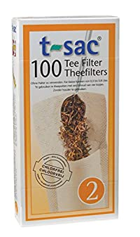 T-Sac Tea Filter Bags, Disposable Tea Infuser, Number 2-Size, 2 to 4-Cup Capacity, Set of 1,000