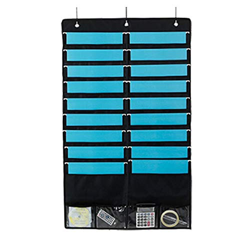 Hängende Datei Organizer, Wandhalterung Folder Portable Document Bag Pocket Chart für Home School - Schwarz