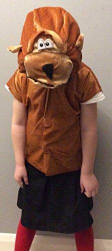 Kind Kostüm Monkey (Henbrandt Kind Monkey gildenwams und Genickstück Medium 7–9Yrs)