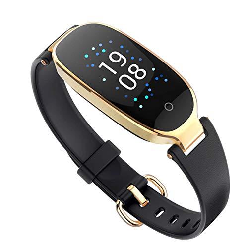 HLL Damenmode Farbdisplay Smart Armband, Herzfrequenz Gesundheit Wasserdicht Kalorienüberwachung Multifunktions-Sport-Armband-Tabelle,B -