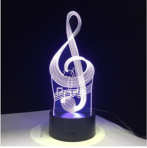 licht Musik Note mit 3D 7 Farben Licht für Hauptdekoration Lampe Erstaunliche Sichtbarmachung Optische Täuschung ()