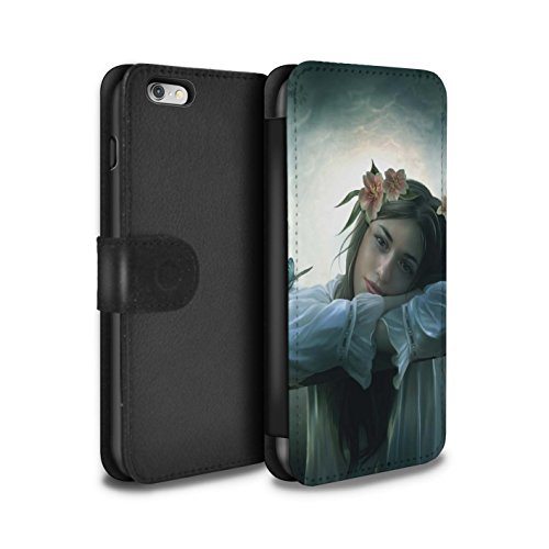 Officiel Elena Dudina Coque/Etui/Housse Cuir PU Case/Cover pour Apple iPhone 6S+/Plus / Fille de Lune Design / Un avec la Nature Collection Rêveur