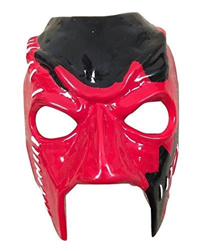 Kane Maske - Hardcore Attitude Era - WWE Wrestling Kostüm geschnürt cosplay halloween kostüm Maske mit Gummiband (Kane Halloween Kostüm)