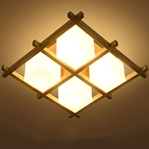 MRFX Simple moderna lámpara de techo Tatami japonés Sala de estar ...