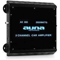 Amplificador coche Auna W2-AC200 2 canales LED. 2000 W