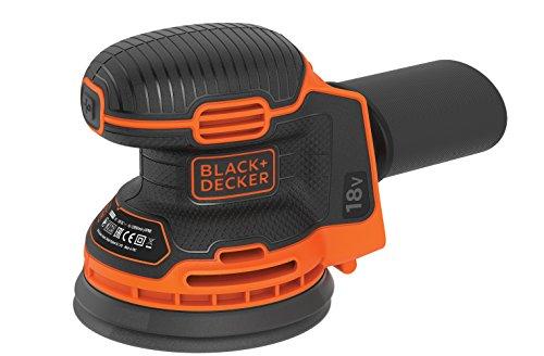 Black+Decker BDCROS18N Akku-Exzenterschleifer/Schleifmaschine, 72 W, 18 V