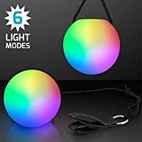 1 Pair LED Glow POI Juggling Thrown Balls for Professional Belly Dance Level Hand Props,battery included
